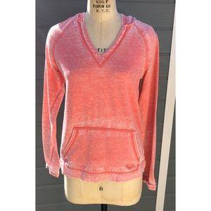Roxy pink burnout hoodie